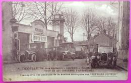 Cpa Nevers Garage Automobile Decelle Rue Saint Benin Carte Postale 58 Nièvre Rare St - Nevers