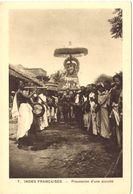 Indes Françaises Procession D'une Divinité - India