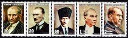 Turkey - 2018 - Mustafa Kemal Ataturk - Mint Official Stamp Set - Dienstzegels
