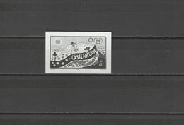 Austria 2002 Olympic Games Salt Lake City Stamp As Black Print MNH - Winter 2002: Salt Lake City
