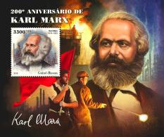 Guinea Bissau 2018 200th Aniv Karl Marx Germany S/S GB18506b - Célébrités