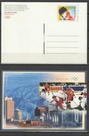 Switzerland 2002 Olympic Games Salt Lake City Commemorative Postcard - Winter 2002: Salt Lake City