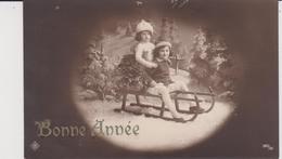 Fête :  Nouvel  An , Bonne  Année  En  Luge  ,  Enfant ( écrite A  Langres) - Anno Nuovo