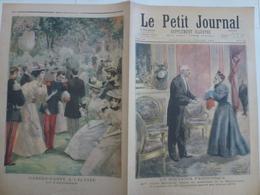 Journal Le Petit Journal 21 Juillet 1895 244 Un Souvenir Patriotique Veuve Petitpied Drapeau 20 Artillerie 1870 Elysée - 1850 - 1899