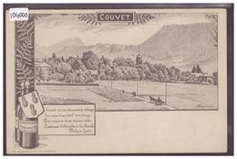 COUVET - EXTRAIT D'ABSINTHE - PAR OLIVIER HUGUENIN - TB - NE Neuchâtel