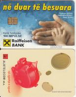 ALBANIA(chip) - Raiffeisen Bank, Albtelecom Telecard 100 Units, Tirage 60000, 02/05, Used - Albania