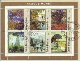 1212 Guinea Bissau 2001  Pittura IMPRESSIONISMO Quadri Dipinti  Claude Monet Sheet Foglietto Perf. - Guinea-Bissau