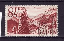 BADEN 1948 N 26 Obli AC54 - Zona Francesa