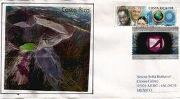 Volcan Irazú (son Cratère), Sur Lettre Costa-Rica , Adressée Au Mexique - Vulkane