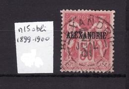 ALEXANDRIE 1899-1900 N 15 Obli AC64 - Alessandria (1899-1931)