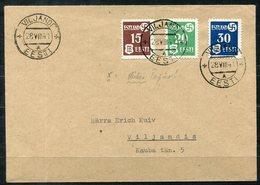 6932 - DEUTSCHE BESETZUNG ESTLAND - Mi.Nr. 1-3 Auf Brief - Nur Markenwert Billigste Sorte Berechnet - Occupation 1938-45