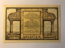 Allemagne Notgeld Nordlingen 50 Pfennig - Collections