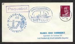 Espagne Poste Maritime 1978 Cachet Hamburg Allemagne Meteor Navire De Recherche Spain Germany Paquebot Research Vessel - 1931-Aujourd'hui: II. République - ....Juan Carlos I