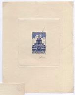 Ex-LECCESE épreuve Artiste Timbre Non émis N°751 Les Invalides Paris 1946 (505) - Artist Proofs