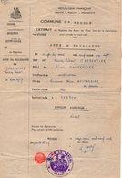 VP12.552 - VERDON 1961 - Généalogie -  Extrait Acte De Naissance De Mr CARPENTIER - Manuscripts