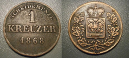 ALLEMAGNE  Schwarzburg  Rudolstadt 1 Kreuzer 1868  Deutschland Germany - Other