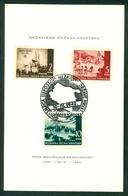 Croatia NDH 1942 Anniversary Commemorative FDC Card Hand Cancel Cover - Croatia
