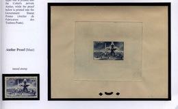 Ex-LECCESE épreuve Atelier Timbre Non émis N°783 UPU Légende France 1947 (525) - Artist Proofs