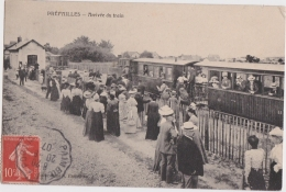 Bp - Cpa PREFAILLES -  Arrivée Du Train (cachet Convoyeur PAIMBOEUF à PORNIC) - Préfailles