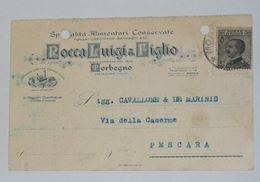 SONDRIO - Morbegno - Cartolina Pubblicitaria Commerciale Rocco Luigi & Figlio Specialità Alimentari Conservate - 1929 - Sondrio