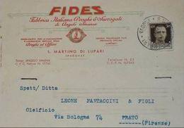 PADOVA - San Martino Di Lupari - Cartolina Commerciale Pubblicitaria Fides Fabbrica Italiana Droghe E Surrogati - Padova (Padua)
