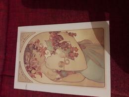 Carte Postale Alphonse Mucha Fluit - Peintures & Tableaux