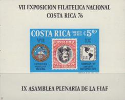 Ref. 368949 * NEW *  - COSTA RICA . 1976. VII EXPOSICION FILATELICA NACIONAL - COSTA RICA-76 - Costa Rica