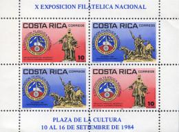 Ref. 302793 * NEW *  - COSTA RICA . 1984. NATIONAL PHILATELIC EXHIBITION. EXPOSICION FILATELICA NACIONAL - Costa Rica