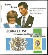 Sierra Leone,  Scott 2018 # 513, 515, 517,  Issued 1981,  Booklet Of 1,  MNH,  Cat $ 4.00,  Diana - Sierra Leone (1961-...)