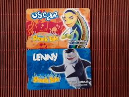 2 Phonecards Shark Tale South Africa  (Mint,Neuve) 2 Scans RAre - Zuid-Afrika