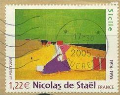 3762 - 2005 - Nicolas De Staël 1914-1955 «Sicile» - Cachet Rond - France