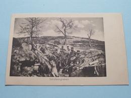 Schützengraben ( Kriegs-Erinnerungs-karte ) Trenkler / Anno 19?? ( Zie Foto Voor Details ) ! - Militari