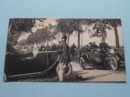 Auto ...70823 .... Moto Met Zijspan ( Format 8 X 14 Cm. ) Anno 1938 ( Zie Foto Voor Details ) ! - Guerres - Autres