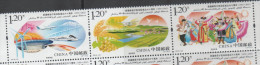 CHINA ,2015, MNH, 60TH ANN.  XINJIANG PRODUCTION, TRAINS, PLANES, BRIDGES, FRUIT,COSTUMES, MOUNTAINS, WIND ENERGY, 3v - Trains