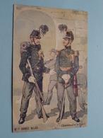 Armée Belge ( N° 8 ) Chasseurs à Pied ( Edit. Th. Vandenheuvel ) Anno 19?? ( Zie Foto Voor Details ) ! - Uniformes