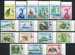 DOMINICA 1968 Associated Statehood Overprints Queen Elizabeth II Ships Fauna MNH - Dominica (1978-...)