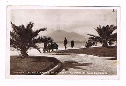 Castellammare Di Stabia  Napoli Giardini Villa Comunale 1936  Animata  Fotografica - Napoli (Napels)