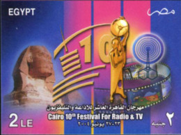 Ref. 180864 * NEW *  - EGYPT . 2004. 10 FESTIVAL DE LA RADIO Y LA TELEVISION - Egypt