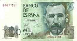 España - Spain 1.000 Pesetas 23-10-1979 Pick 158 Serie R UNC - [ 4] 1975-… : Juan Carlos I