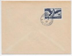 FRANCE Timbre Poste Aérienne PA18 Mythologie 100 F Bleu Foncé Oblitéré 1947 - Avions