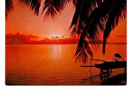 Tahiti Moorea - Coucher De Soleil Sur Moorea - Tahiti