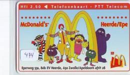 RARE * NEDERLAND CHIP TELEFOONKAART CRE 474 * McDONALD's  * Telecarte A PUCE PAYS-BAS * ONGEBRUIKT MINT - Nederland