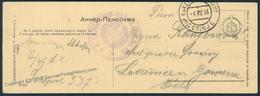 Austria WWI Montenegro Cetinje Etappenpostamt Panoramic PC Feldpost 50207 - Timbres