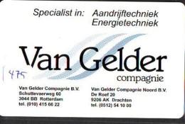 NEDERLAND CHIP TELEFOONKAART CRE 475 * VAN GELDER  * Telecarte A PUCE PAYS-BAS * ONGEBRUIKT MINT - Private