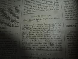 1914-18 LA GUERRE DOCUMENTÉE:Le Roi Du SIAM Déclare La Guerre à L'Allemagne; Camouflage Aux Armées (nombr. Gravures);etc - Magazines & Papers