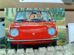 PUBBLICITARIA ORIGINALE D'EPOCA Car Auto Sportiva Fiat 850 Sport Spider Rossa  N1975 GT1965 - Turismo