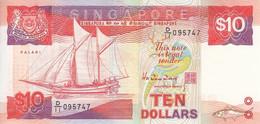 SINGAPORE P. 20 10 D 1988 AUNC - Singapour