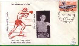FDC FILAGRANO OLIMPIADI ROMA 1960 I VINCITORI:PUGILATO   Pesi Piuma   MUSSO. - Italia