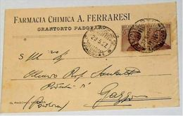 PADOVA - Grantorto Padovano - Cartolina Commerciale Pubblicitaria Farmacia Chimica A.Ferraresi - 1927 - Padova (Padua)