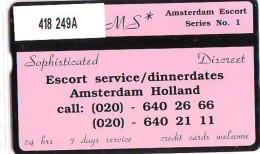Telefoonkaart  LANDIS&GYR NEDERLAND * RCZ.418  249a * Dreams Escort Service *  TK * ONGEBRUIKT * MINT - Nederland